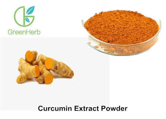 China High Purity Natural Water Soluble Food Pigments 10% Curcumin Extract Powder factory