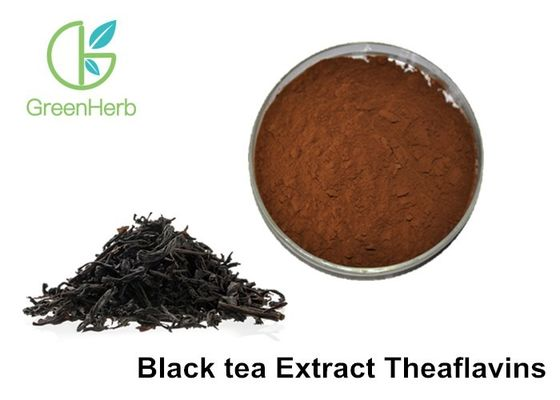 Water Soluble 50% Theaflavins Black Tea Extract Powder For Against Atheroma Hardening